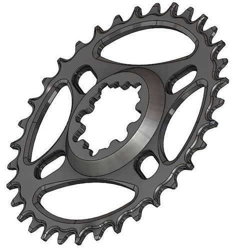 PILO 34T Narrow Wide CNC Chainring Sram Direct (6mm) fitting Black Hard Anodized