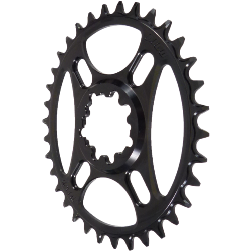 PILO 34T Narrow Wide CNC ELLIPTICAL Chainring Sram Direct (3mm) fitting Black Hard Anodized