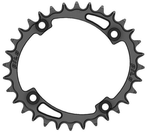 PILO 32T Narrow Wide CNC ELLIPTICAL Chainring Shimano 104 BCD  Black Hard Anodized