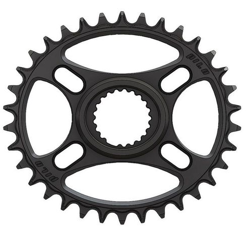 PILO 34T Narrow Wide CNC ELLIPTICAL Shimano direct mount Chainring Black Hard Anodized