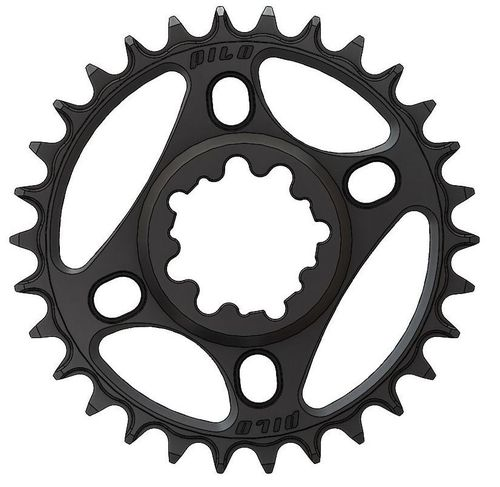 PILO 30T Narrow Wide CNC Chainring Sram Direct (3mm) fitting Black Hard Anodized