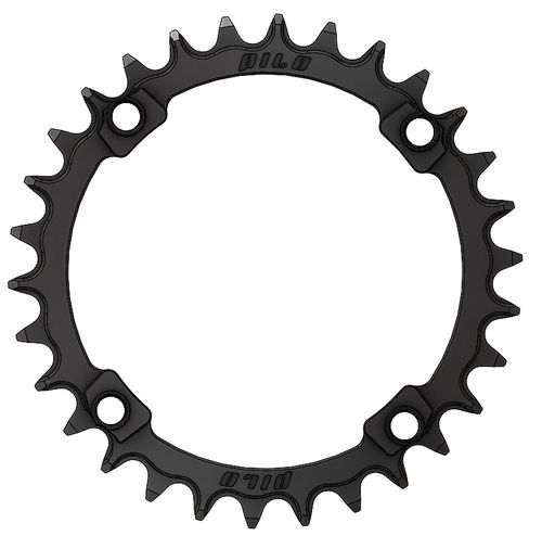PILO 30T Narrow Wide CNC Chainring Shimano 104 BCD  Black Hard Anodized