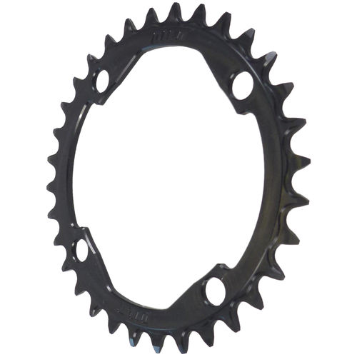 PILO 34T Narrow Wide CNC Chainring Shimano Hyperglide+ 104 BCD Black Hard Anodized