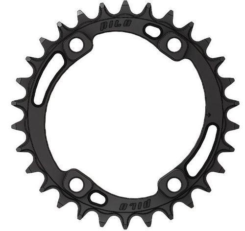 PILO 34T Narrow Wide CNC Hyperglide+ Chainring Shimano 96 BCD Asymmetric Black Hard Anodized