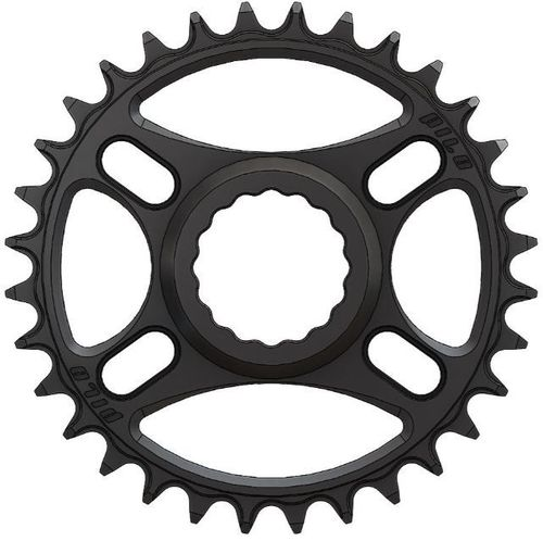 PILO 28T Narrow Wide CNC Chainring Race Face Cinch Direct fitting Hyperglide+ Black Hard Anodized