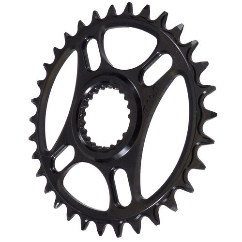 PILO 30T Narrow Wide CNC Shimano direct mount Hyperglide+ Chainring Black Hard Anodized