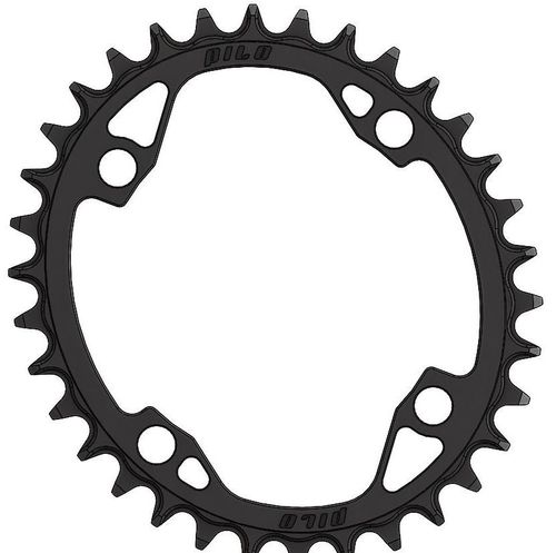 PILO 36T Narrow Wide CNC ELLIPTICAL Chainring Shimano 104 BCD (0mm offset) Black Hard Anodized